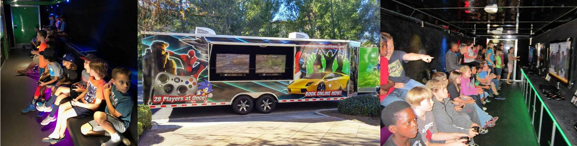 Video game truck, game van, game trailer in Santa Clarita, Ventura County California